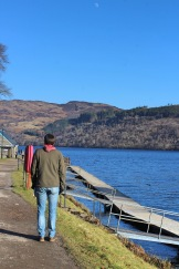 M looking for Nessie in Scotland