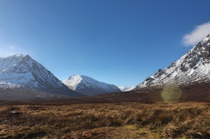 View of the Scotland highlands