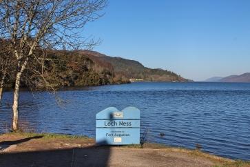 Loch Ness sign in Scotland