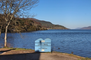 Loch Ness sign in Scotland