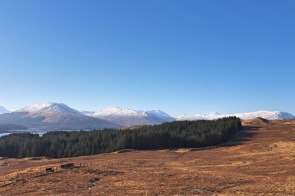 View of the highlands in Scotland