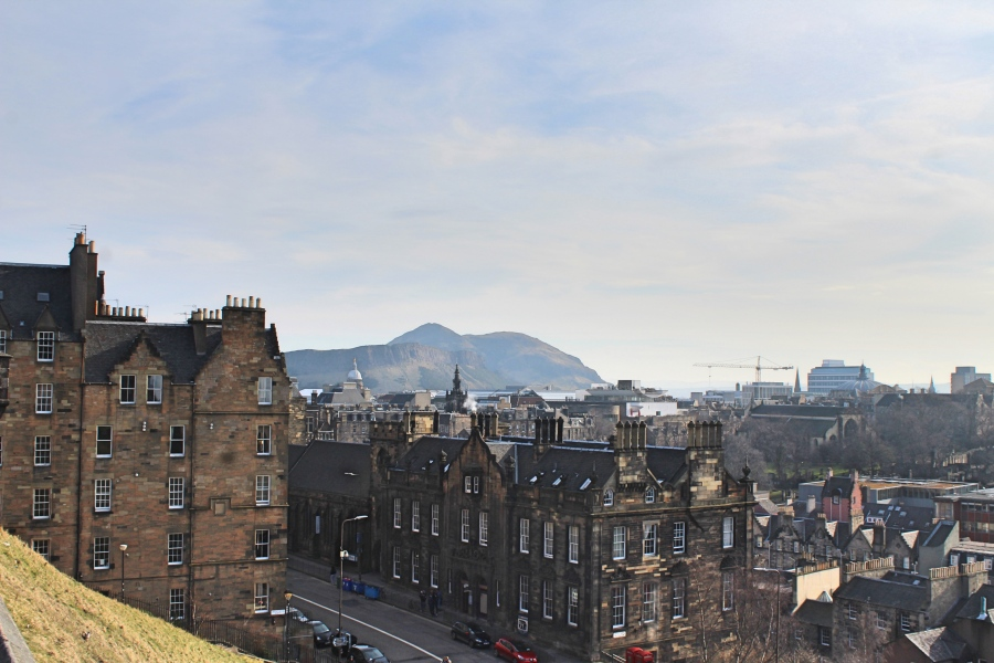 View of Edinburgh in Scotland