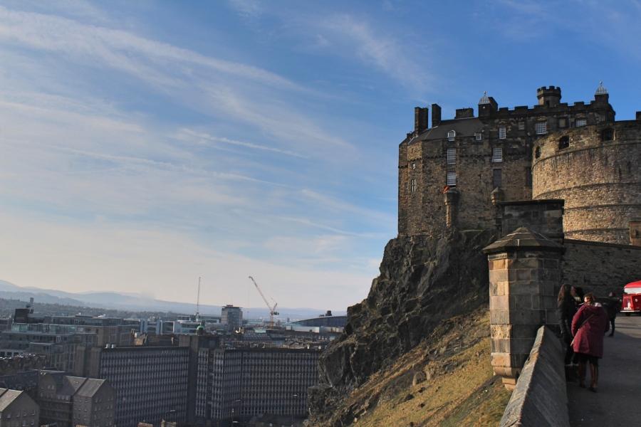 View of castle in Edinburgh in Scotland