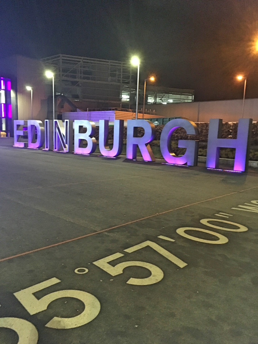 Edinburgh sign in Scotland
