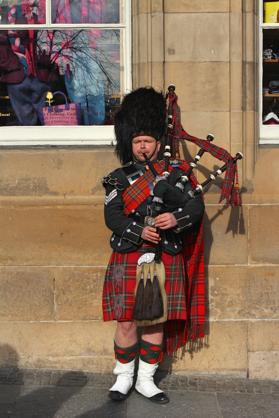 Bag Piper in Scotland