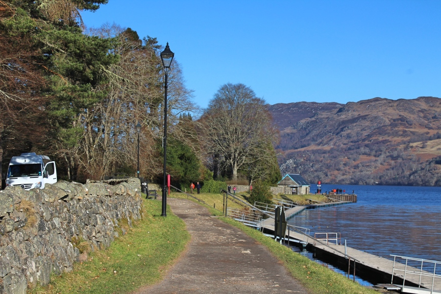 View of Loch Ness in Scotland